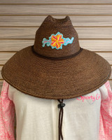 Coco Straw Hat with Sporty Girl conch shell flower