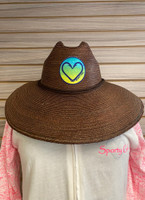 Coco Straw Hat with signature  Sporty Girl mahi  Heart Hook