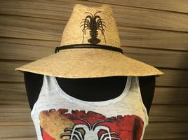 Brown Glitter LOBSTER   Straw Hat