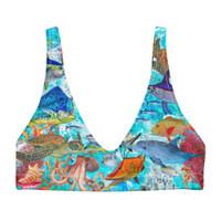 padded bikini top FISH REEF PRINT