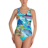 MIXED PELAGIC and REEF fish One-Piece Swimsuit