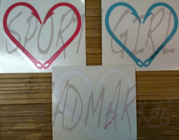 Heart Hook Decals