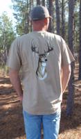 Deer Head Mens Hunting Pocket Shirt