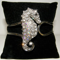 Crystal Seahorse Cuff Bracelet