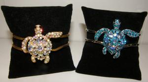 Crystal Turtle Cuff Bracelet