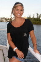 Womens Crystal Starfish Shirt