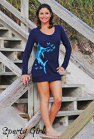 Navy Sailfish Sweater Dress-HOLIDAY SALE