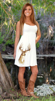 Cute white Deer dress