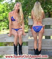only MEDIUM LEFT American Flag Country Girl Bikini