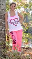Loose fit Sporty Girl logo tank top with heart hook and antler logo