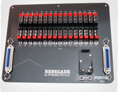 The Renegade 32 cue slat is the perfect mate for the SparkFire with a cn36 port or any 32 cue firing system with a 36 pin centronics cable output and will work with all popular 32 cue systems that currently use a 32 cue slat.