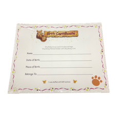 Birth Certificate - Blank - 200 birth certificates per pack(10 cents each)