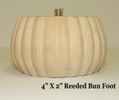 Reeded Bun Foot - Pair