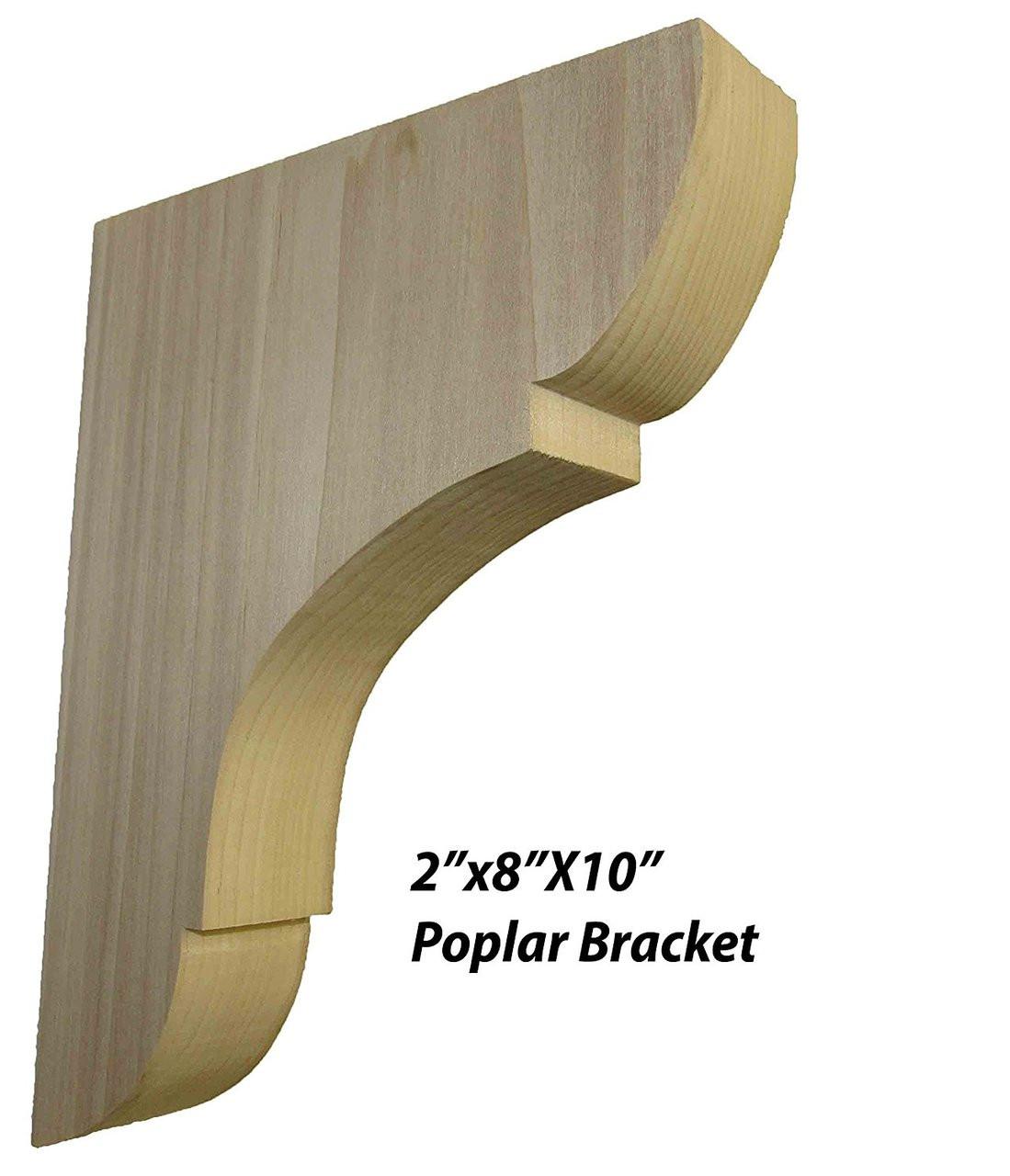 Wall Shelves Wooden Shelf Brackets Natural 1 X Pair Home