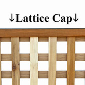 Lattice U Channel Cap