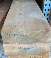 "WR Cedar Timbers / Mantels, S4S,  4"" thick"