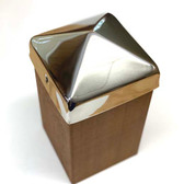 Heavy Duty Stainless Steel Pyramid Post Caps