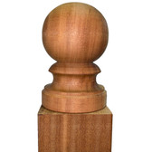 Mahogany Globe Post Top