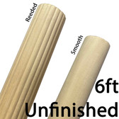 6ft Unfinished Wooden Drapery Pole
