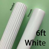 6ft White Wooden Drapery Pole