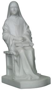 Saint Thérèse - Seated, Marble resin