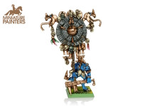BRONZE Lizardmen Scar Veteran with Battle Standard
