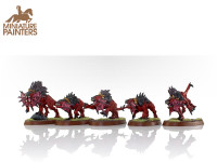 DEAMONS OF KHORNE FLESH HOUNDS OF KHORNE