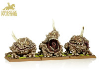 MAGGOTKIN OF NURGLE DAEMON POX RIDERS WITH PLAGUE TOADS