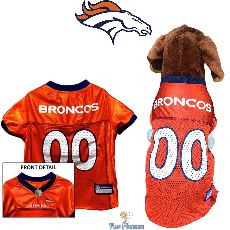 e4dbdada0f40 Broncos Dog Jersey Free Ship All Sizes Quality Mesh
