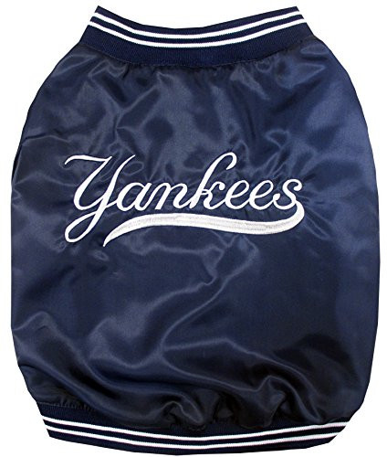 987de2841 ... New York Yankees Dog Dugout Jacket Pets First 4 sizes. Image 1