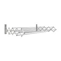 Aluminum 100 cm RuckZuck Wall Clothes Rack- Silver - AWR-333