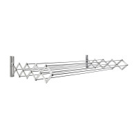 Aluminum 120 cm RuckZuck Wall Clothes Rack- Silver - AWR-334