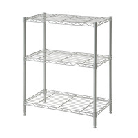 Wire Rack 60 x 35 x 76 cm White 3 Shelf - HTC-WR601