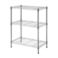 Wire Rack 60 x 35 x 76 cm Chrome 3 Shelf - HTC-WR602