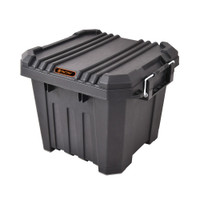 30 Litre - Heavy Duty Storage Box - 40.8 W x 38.3 D x 32.5 H cm - Black