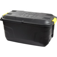 Heavy Duty Storage Box with Wheels - 145 Litre - 94 x 52 x 45 cm - Made in UK