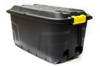 Heavy Duty Storage Box with Wheels - 75 Litre - 77 x 42 x 40 cm - Made in UK
