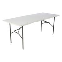 Lifetime 6 Ft Fold-In-Half Table, Rectangle, Residential, White Granite Colour, LFT-80244