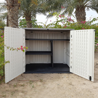 Outdoor Storage Cabinet with shelf, Heavy Duty, 772 Litres, 5-Year Limited Warranty, Horizontal Shed, CamelTough, HTC-CT634