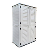 Outdoor Storage Cabinet with Shelf, Heavy Duty, Extra Large Size, 1483 Litres, 5-Year Limited Warranty, Vertical Shed, CamelTough, HTC-CT635
