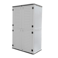 OUTDOOR STORAGE CABINET, HEAVY DUTY, EXTRA LARGE SIZE 72 CU FEET, VERTICAL SHED, 5 YEAR WARRANTY CAMELTOUGH HTC-CT-632