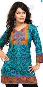 Silky Ethnic Kurti Tunic #DK764