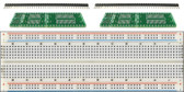 Schmartboard 2 Pack of Schmartboard|ez 1.27mm Pitch SOIC to DIP adapter Plus a Free Breadboard (204-0004-31)