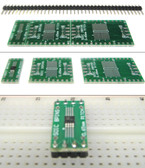Schmartboard|ez 0.65mm Pitch SOIC to DIP adapter (204-0006-01)