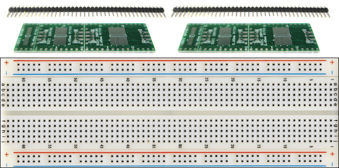 Schmartboard 2 Pack of SchmartBoard ez 1.27mm Pitch SOIC to DIP Adapter and a Free Breadboard