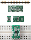 Schmartboard|ez 0.5mm Pitch SOIC to DIP adapter (204-0007-01)