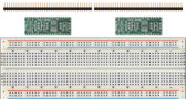 Schmartboard 2 Pack of Schmartboard|ez 0.5mm Pitch SOIC to DIP adapter Plus a Free Breadboard (204-0007-31)