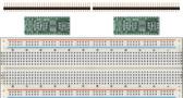 Schmartboard 2 Pack of Schmartboard|ez 0.5mm Pitch SOIC to DIP adapter Plus a Free Breadboard (204-0007-31)