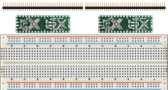 2 pack of Schmartboard|ez .5mm Pitch, 12 and 24 Pin QFP/QFN to DIP Adapter Plus a Free Breadboard (204-0015-31)