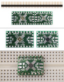 Schmartboard|ez .5mm Pitch, 16 and 20 Pin QFP/QFN to DIP Adapter (204-0016-01)